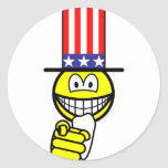 Uncle Sam smile pointing  sticker_sheets