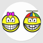 Brother and sister smile   sticker_sheets