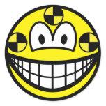Crash test dummy smile   sticker_sheets