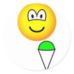 Snowcone eating emoticon   sticker_sheets