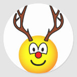 Rudolph the red nosed reindeer emoticon   sticker_sheets