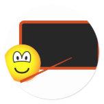 Teacher emoticon Black board  sticker_sheets