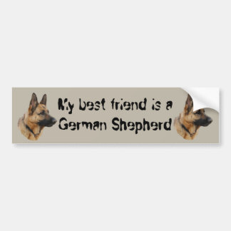 Sticker shepherd dog 01 bumper stickers