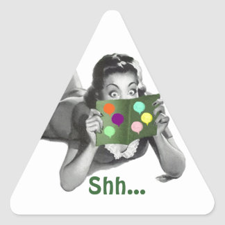 Sticker Shh... Retro Lady Fun Surprise Party Seals