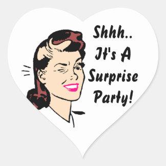 Sticker Shhh It s A Surprise Party Wink Seals