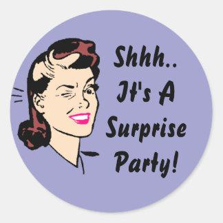 Sticker Shhh.. It's A Surprise Party! Wink Seals