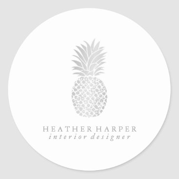 Professional Business Sticker - Silver Pineapple