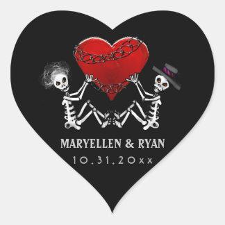 Sticker - Skeletons & Heart Wedding Heart Sticker