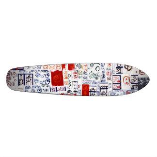 Sticker Slapped Skateboard