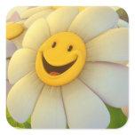 Sticker/Smiling Sunflower Square Sticker