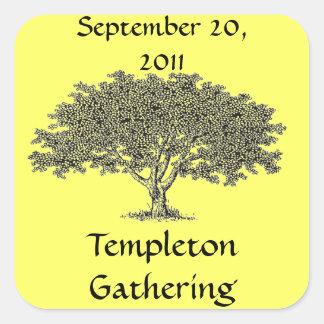 Sticker (sq) - Family Tree Name Tag