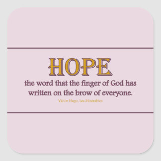 Sticker Square: Hope