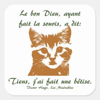 Sticker Square: Le Chat