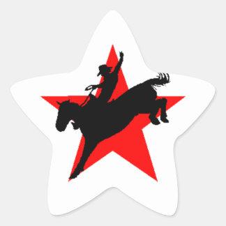 Sticker star rodeo bronc horse rider Stationery
