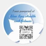 Sticker Template Blue Spa