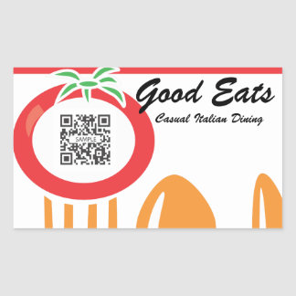 Sticker Template Casual Dining Italian