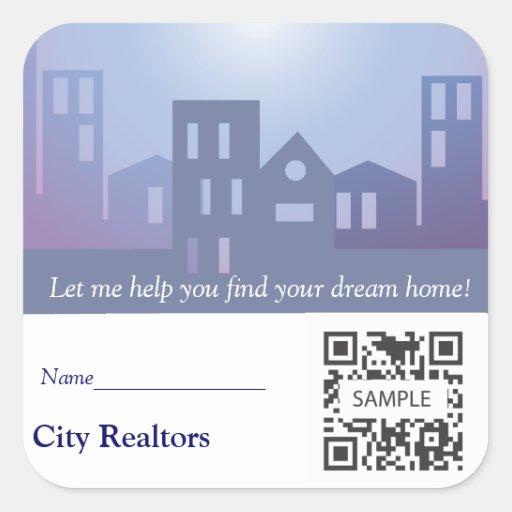 Sticker Template City Realtors