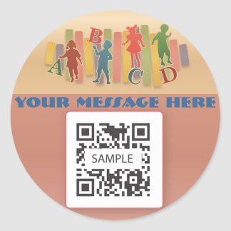 Sticker Template Elementary Education