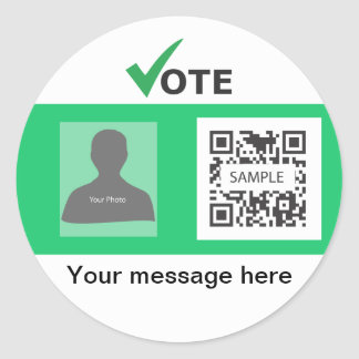 Sticker Template Green Party