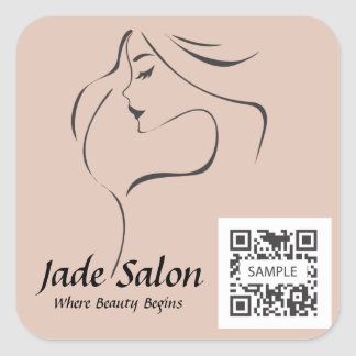 Sticker Template Hair Salon
