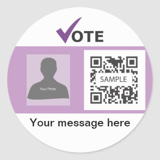 Sticker Template Independence Party