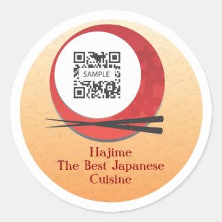 Sticker Template Japanese Restaurant