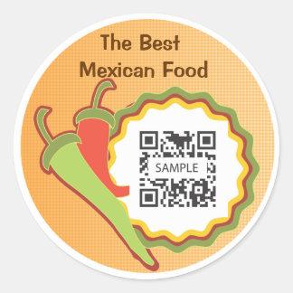 Sticker Template Mexican Restaurant