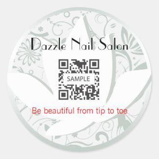 Sticker Template Nail Salon