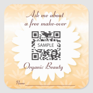 Sticker Template Organic Beauty