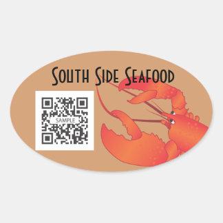 Sticker Template Seafood Restaurant