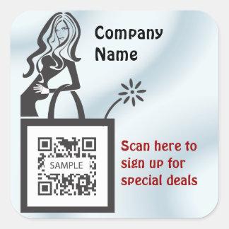 Sticker Template Shop Girl