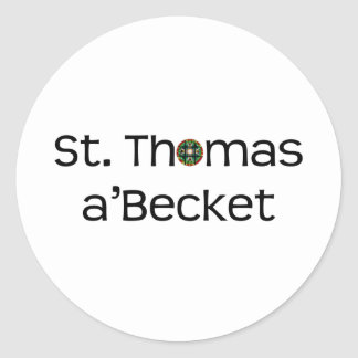 sticker: text name with rose window classic round sticker