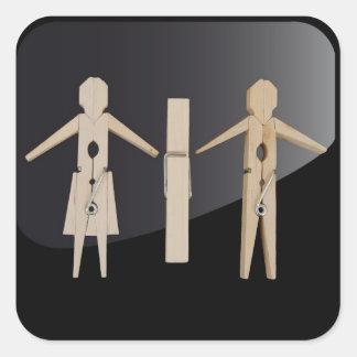 sticker, toilet, design, pegs, square sticker