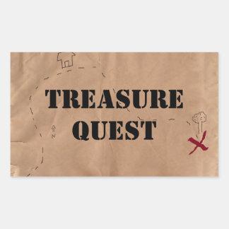 Sticker: Treasure Quest, on an Old Map Rectangular Sticker