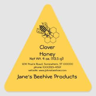 Sticker (Tri)- Honey Business (Bee on comb)