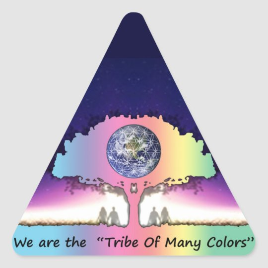 """Sticker ~ """"Tribe OF Many Colors """""""