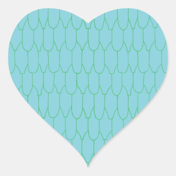 Sticker- Turq. Manor! heart Heart Sticker