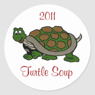 Sticker Turtle Meat Soup Home Canning Jar Circles