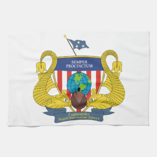 STICKER U.S. Navy Commander Naval Submarine Forces Hand Towel
