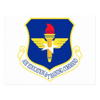 STICKER USAF AIR EDUCATION N TRAINING COMMAND POSTCARD