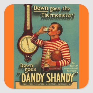 Sticker Vintage Ads Dandy Shandy Beverage Bottle