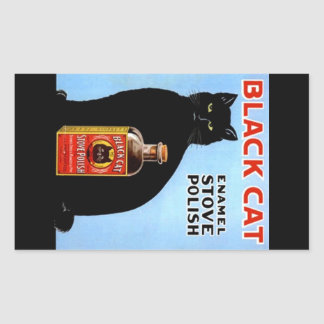 Sticker Vintage Advertising Black Cat Stove Polish