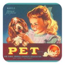 Sticker Vintage Advertising Crate-Lable Pet Fruit