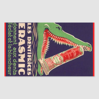 Sticker Vintage Advertising Denture Crocodile