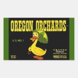 Sticker Vintage Advertising Oregon Orchards Duck