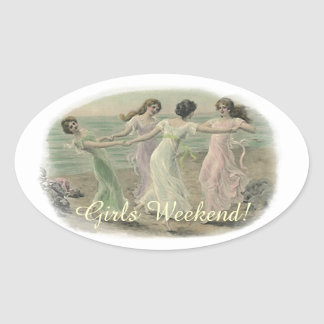Sticker Vintage Friends Girlfriends Bridesmaids