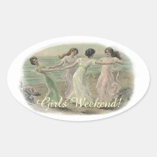 Sticker Vintage Friends Girlfriends Bridesmaids