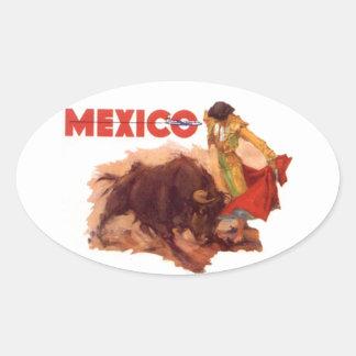 Sticker Vintage Mexico Travel Sticker Bullfighting