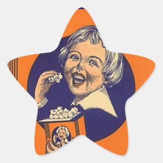 Sticker Vintage Popcorn Advertising Movie Stars