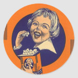 Sticker Vintage Popcorn Advertising Retro Girl Hap
